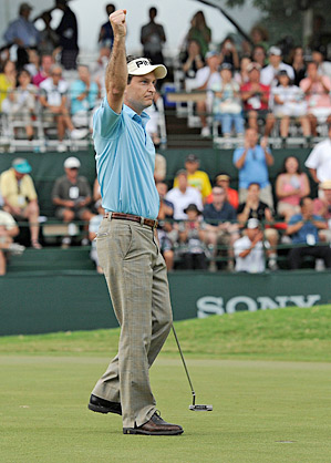 Mark Wilson stuck to his game plan to hold on to his lead and win the Sony Open.