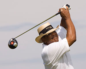 Jim Thorpe is one of two black golfers on the Champions Tour.