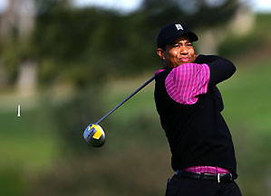 Tiger Woods missed only one green in regulation Saturday.