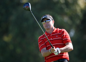 Robert Allenby shot a bogey-free 67 on the tougher South course.
