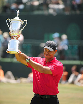 Tiger Woods has played in 10 Majors without a victory since winning his 14th at the 2008 U.S. Open.