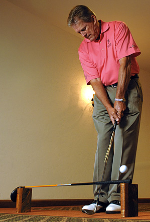 Good chipping strokes are wide and flat, not steep.