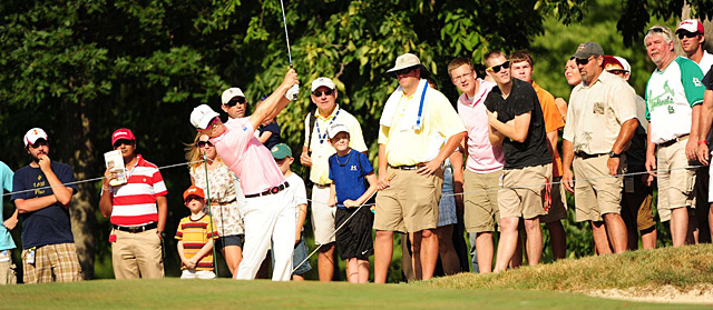 On the second playoff hole, Zach Johnson blasted out of a fairway bunker to a foot to secure the win.
