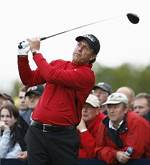 Mickelson hasn't played since the U.S. Open.
