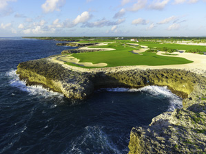 Six holes at Corales run along Punta Cana's rocky shore.