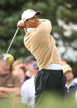 Woods put hist stinger shot to use at the 2007 Open Championship at Carnoustie.