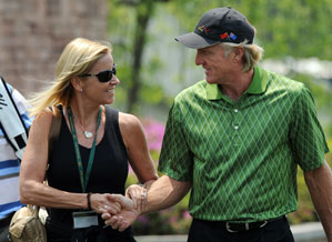 Chris Evert was a frequent presence in Greg Norman's gallery.
