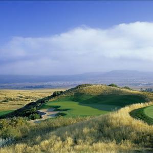 Wild ride: The 14th hole at Red Hawk Ridge.