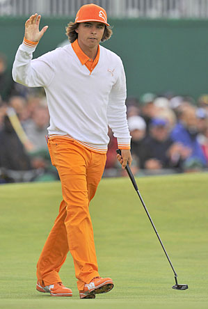 Rickie Fowler tied for fifth place at this year's British Open, his best showing in a major.