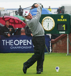 Joe Durant took the opening shot at Carnoustie.