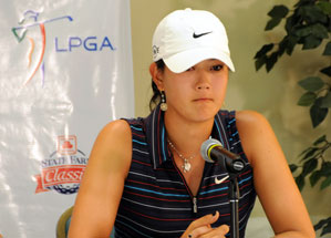 Michelle Wie was one shot off the lead when she was disqualified at the State Farm Classic.