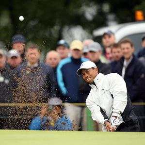 Tiger Woods made three birdies, three bogeys, and an eagle.