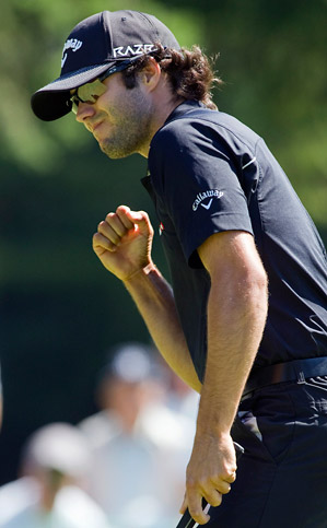 Canada's Adam Hadwin is in sole possession of second place, one shot behind Bo Van Pelt.