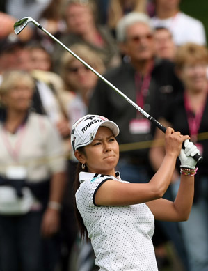 Ai Miyazato fired a 67 on Saturday to take the lead.