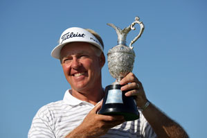 Bruce Vaughan birdied the first playoff hole to win the Senior British Open.