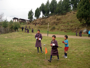 The Bhutan Youth Golf Association developed a rustic 5-hole course for children in Gasa, a remote Bhutanese village at 14,000 feet above sea level.