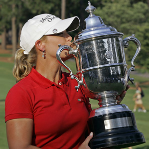 Cristie Kerr won her first major at the U.S. Women's Open.