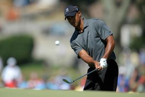 Tiger Woods shot even par on Saturday.