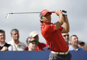 Sergio Garcia had the best round of the day with a 64.