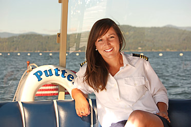 """""""I'm not sure about career advancement. Maybe I'll be promoted to putter-boat admiral some day."""" - Tina Ghirarduzzi"""
