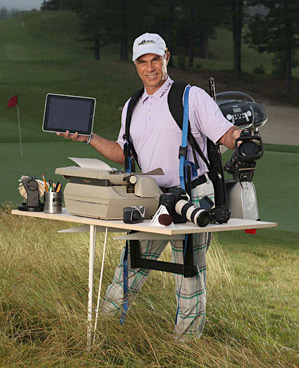 """""""I do it all: reporting, writing, video, producing. I'm a workaholic. A freak. I once attended 434 consecutive tournaments."""" - Tom Auclair"""