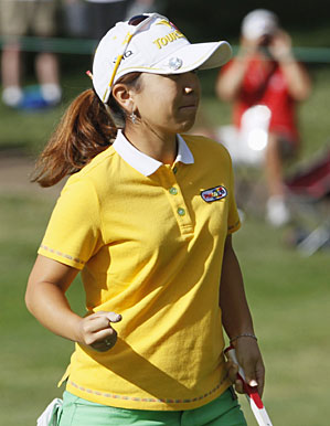 Mika Miyazato made five birdies and one bogey in the second round.