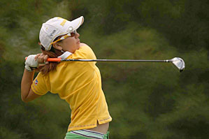 Mika Miyazato shot a 67 on Saturday.
