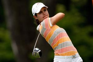 Lorena Ochoa made four birdies and two bogeys on Thursday.