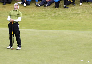 Garcia missed the putt on Carnoustie's 18th hole that would have won the Open.