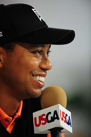 """Is it fully recovered?"" Tiger said of his knee. ""Probably not."""