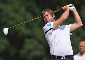 Robert Rock made five birdies and a bogey on Saturday.