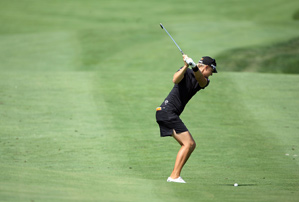 Anna Nordqvist made four birdies and two bogeys on Friday.