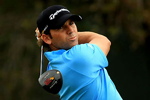 Sergio Garcia made two double bogeys on the front nine Thursday.