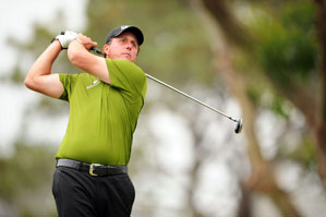 Phil Mickelson did not carry a driver in the first two rounds.