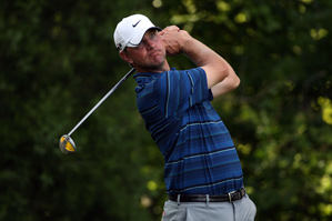 Lucas Glover made five birdies and no bogeys before play was suspended.