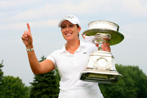 Cristie Kerr won in Tiger-like fashion on Sunday.