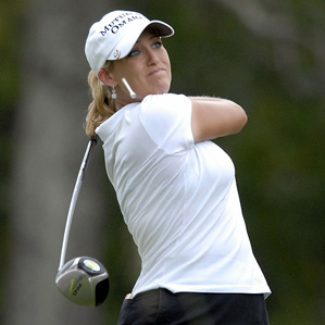 Cristie Kerr was five under for the day when play was suspended.