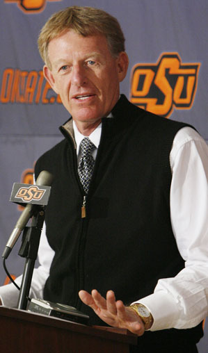 Before becoming athletic director, Mike Holder was the golf coach at Oklahoma State.