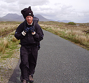 Tom Coyne's walking trip has not been a leisurely stroll.