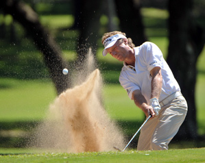 Bernhard Langer made eight birdies and one bogey on Friday.