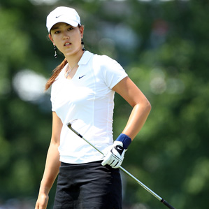 Michelle Wie was the center of attention, and controversy, in the first round of the LPGA Championship.