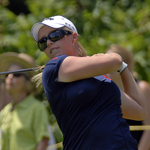 Morgan Pressel made two birdies on the back nine to shoot 70.