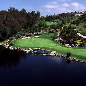 Palmer's pond: The 149-yard third hole at Aviara Golf Club.