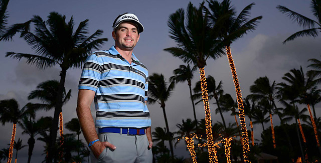 ALL BUSINESS: Bradley may have been in paradise, but his week in Hawaii was highlighted by morning practice rounds, afternoon gym work and an early curfew.
