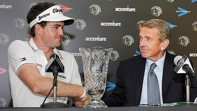 "Speaking months ago on the topic of the anchor ban, Keegan Bradley said, ""I think Tim Finchem will back his players."""