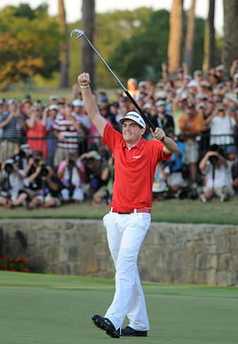 With his PGA Championship victory in August, Keegan Bradley became only the third player to win in his first major championship appearance.