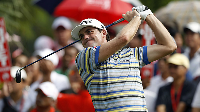 Keegan Bradley led after the second round but is now three shots back.