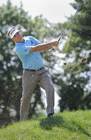 Kenny Perry finished at 22 under.