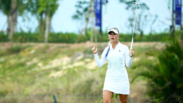 Jessica Korda shot a 6-under 66 in round 1 of the Blue Bay LPGA.