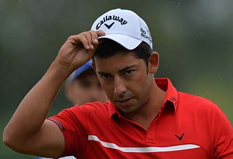 Pablo Larrazabal at the BMW International Open on Saturday.